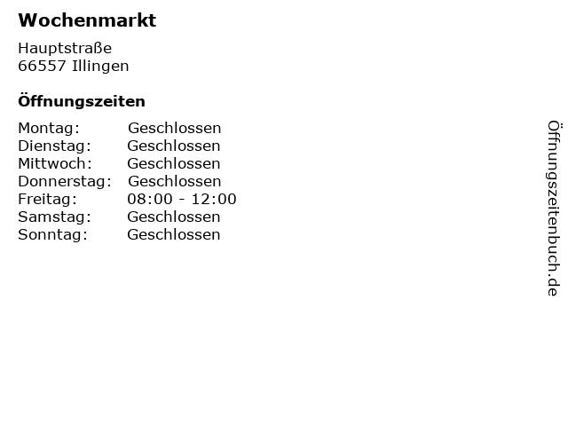 Wochenmarkt in Illingen: Adresse und Öffnungszeiten