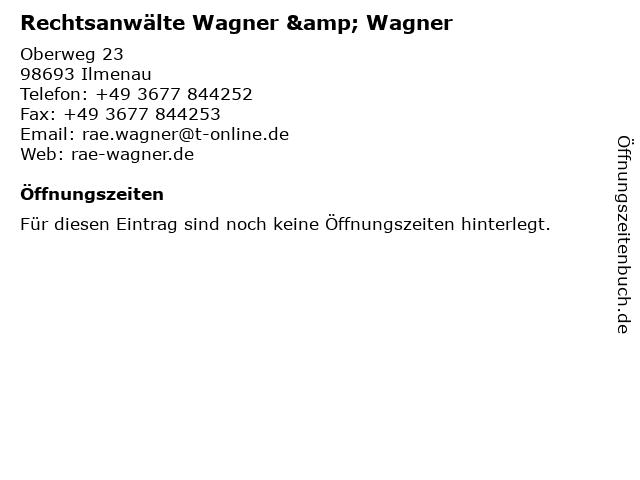 Rechtsanwälte Wagner & Wagner in Ilmenau: Adresse und Öffnungszeiten