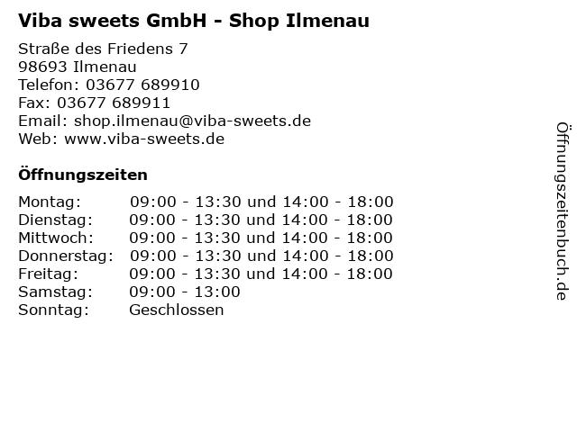 Viba sweets GmbH - Shop Ilmenau in Ilmenau: Adresse und Öffnungszeiten