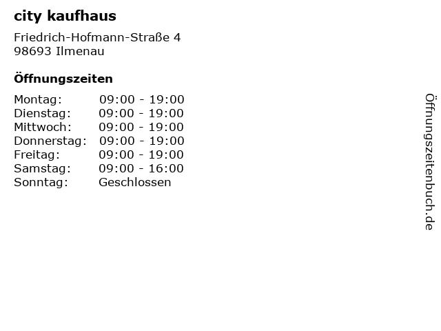city kaufhaus in Ilmenau: Adresse und Öffnungszeiten