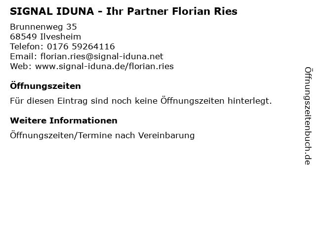 SIGNAL IDUNA - Ihr Partner Florian Ries in Ilvesheim: Adresse und Öffnungszeiten