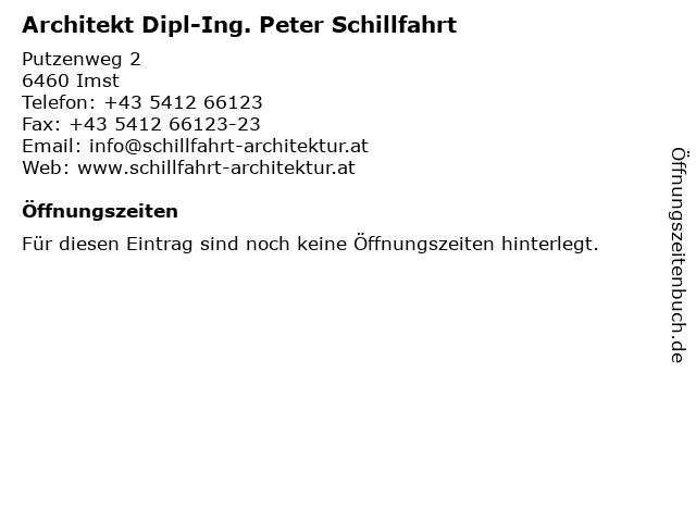 Architekt Dipl-Ing. Peter Schillfahrt in Imst: Adresse und Öffnungszeiten