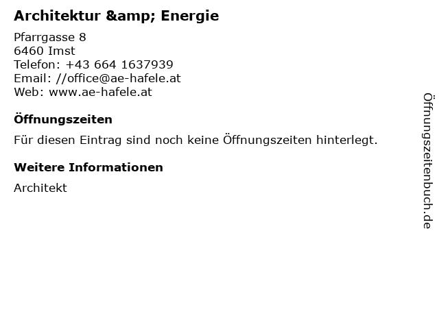 Architektur & Energie in Imst: Adresse und Öffnungszeiten