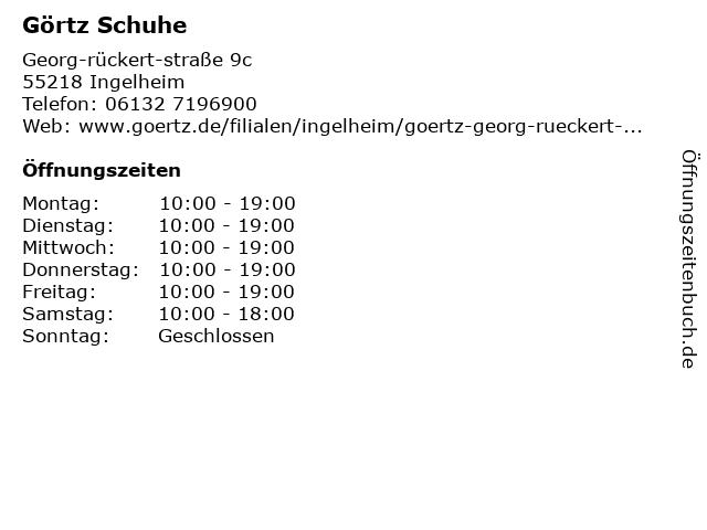 Görtz Schuhe in Ingelheim: Adresse und Öffnungszeiten