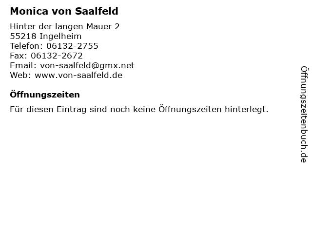 Monica von Saalfeld in Ingelheim: Adresse und Öffnungszeiten