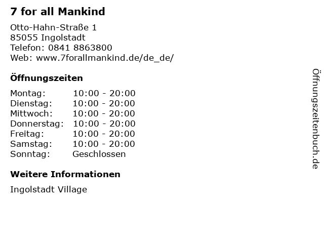 7 for all Mankind in Ingolstadt: Adresse und Öffnungszeiten