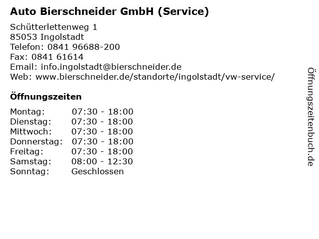 Auto Bierschneider GmbH (Service) in Ingolstadt: Adresse und Öffnungszeiten