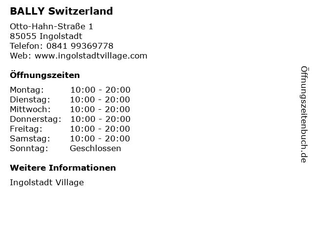 BALLY Switzerland in Ingolstadt: Adresse und Öffnungszeiten