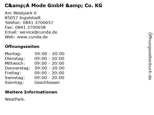 C&A Mode GmbH & Co. KG in Ingolstadt: Adresse und Öffnungszeiten