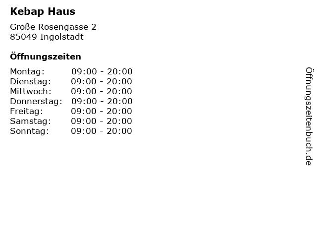 Kebap Haus in Ingolstadt: Adresse und Öffnungszeiten