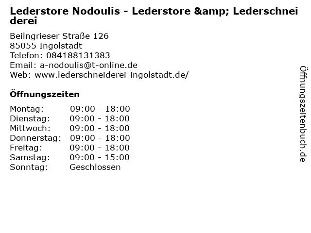 Lederstore Nodoulis - Lederstore & Lederschneiderei in Ingolstadt: Adresse und Öffnungszeiten