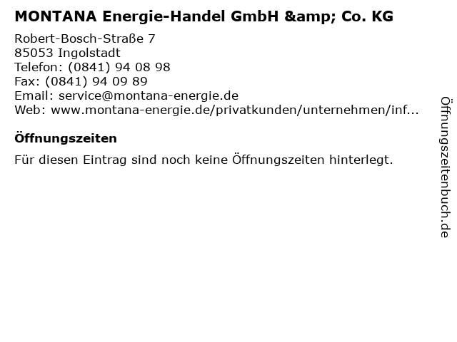 MONTANA Energie-Handel GmbH & Co. KG in Ingolstadt: Adresse und Öffnungszeiten