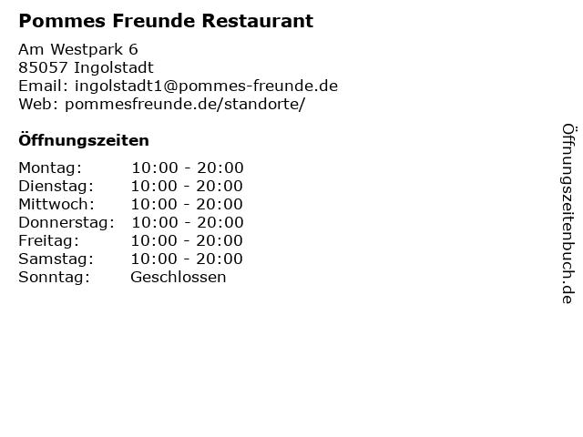 Pommes Freunde in Ingolstadt: Adresse und Öffnungszeiten