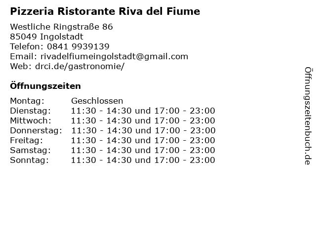 Riva del Fiume in Ingolstadt: Adresse und Öffnungszeiten