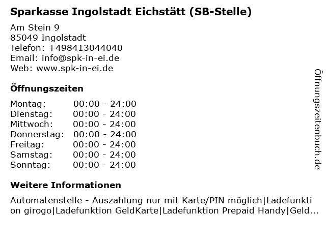 Sparkasse Ingolstadt Eichstätt - (Geldautomat Am Stein) in Ingolstadt: Adresse und Öffnungszeiten