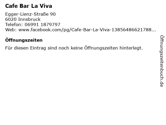 Cafe Bar La Viva in Innsbruck: Adresse und Öffnungszeiten