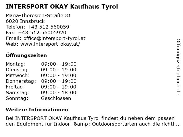 df26c3da76179 Bilder zu INTERSPORT Kaufhaus Tyrol in Innsbruck