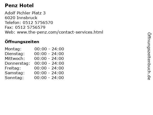 Penz Hotel in Innsbruck: Adresse und Öffnungszeiten