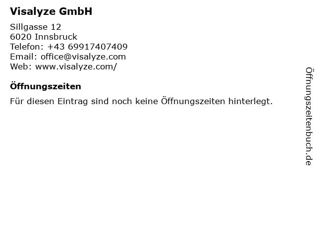 Visalyze GmbH in Innsbruck: Adresse und Öffnungszeiten