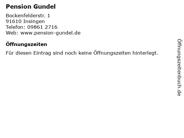 Pension Gundel in Insingen: Adresse und Öffnungszeiten
