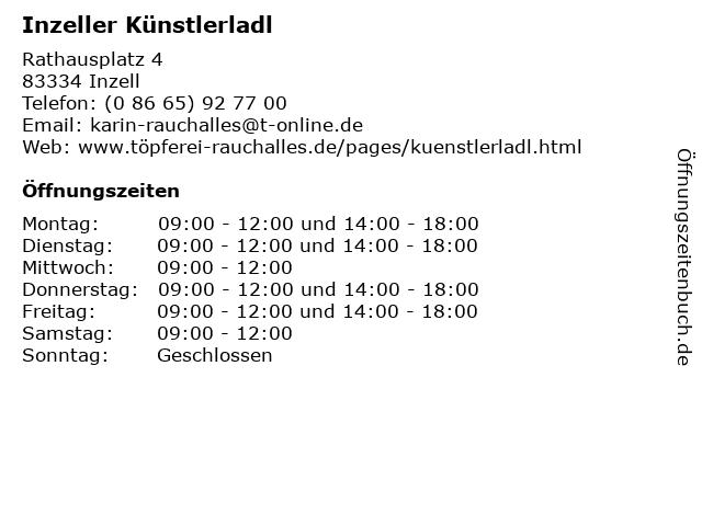 Inzeller Künstlerladl in Inzell: Adresse und Öffnungszeiten