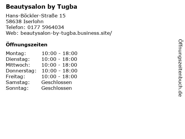 Beautysalon by Tugba in Iserlohn: Adresse und Öffnungszeiten