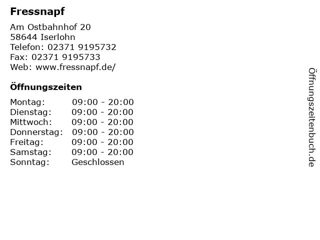 Fressnapf in Iserlohn: Adresse und Öffnungszeiten