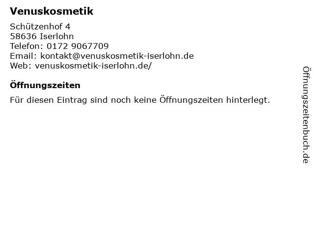Venuskosmetik in Iserlohn: Adresse und Öffnungszeiten