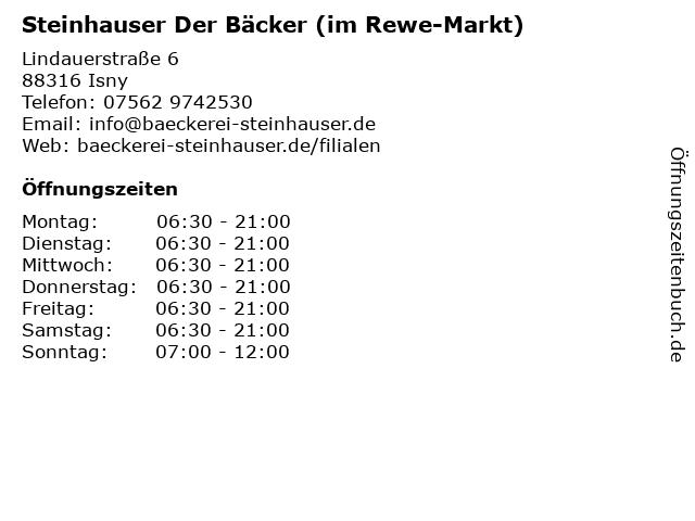 Steinhauser Der Bäcker (im Rewe-Markt) in Isny: Adresse und Öffnungszeiten