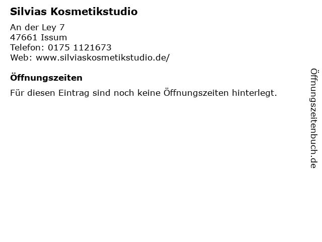 Silvias Kosmetikstudio in Issum: Adresse und Öffnungszeiten