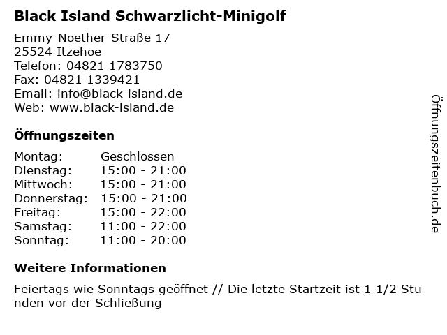 Black Island Schwarzlicht-Minigolf in Itzehoe: Adresse und Öffnungszeiten