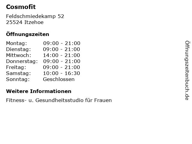 Cosmofit in Itzehoe: Adresse und Öffnungszeiten