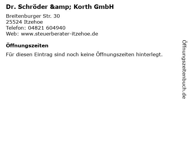 Dr. Schröder & Korth GmbH in Itzehoe: Adresse und Öffnungszeiten