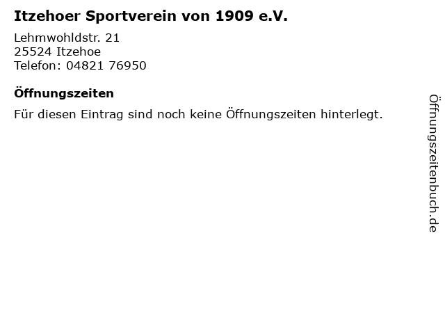 Itzehoer Sportverein von 1909 e.V. in Itzehoe: Adresse und Öffnungszeiten