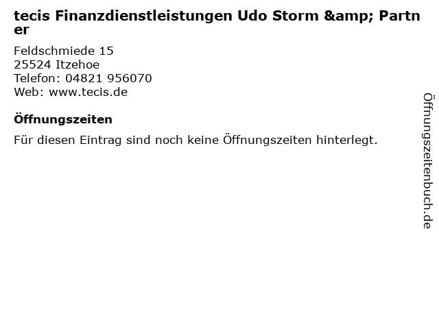 tecis Finanzdienstleistungen Udo Storm & Partner in Itzehoe: Adresse und Öffnungszeiten