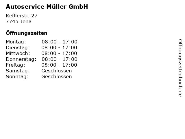 Autoservice Müller GmbH in Jena: Adresse und Öffnungszeiten