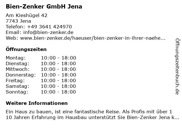 Bien-Zenker GmbH Jena in Jena: Adresse und Öffnungszeiten
