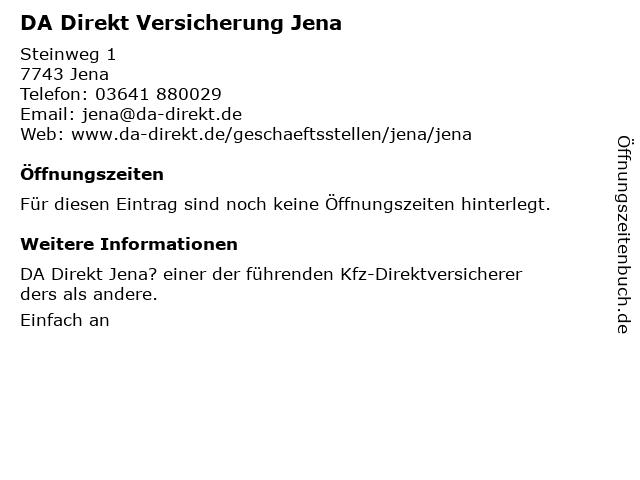 ᐅ Offnungszeiten Da Direkt Steinweg 1 2 In Jena