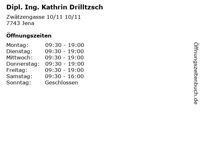 Dipl. Ing. Kathrin Drilltzsch in Jena: Adresse und Öffnungszeiten