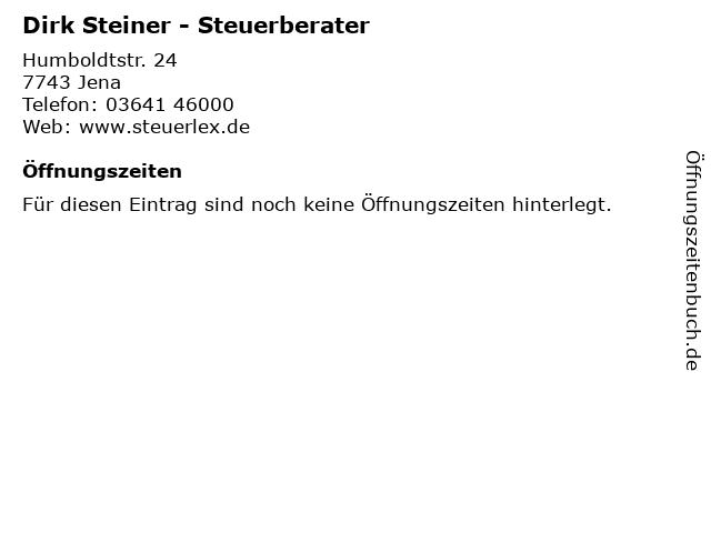 Dirk Steiner - Steuerberater in Jena: Adresse und Öffnungszeiten