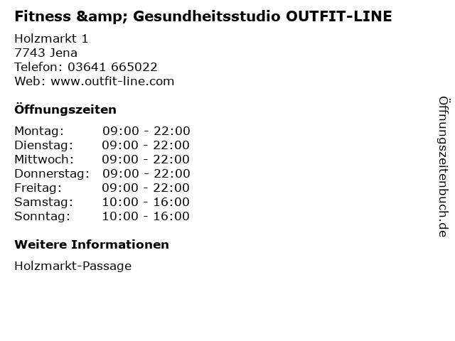 Fitness & Gesundheitsstudio OUTFIT-LINE in Jena: Adresse und Öffnungszeiten
