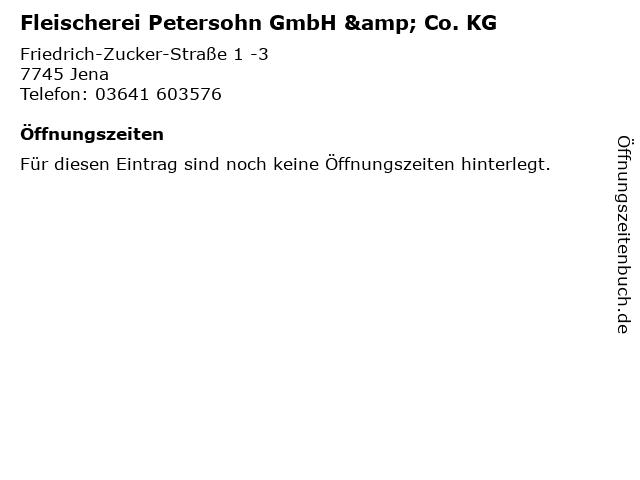 Fleischerei Petersohn GmbH & Co. KG in Jena: Adresse und Öffnungszeiten