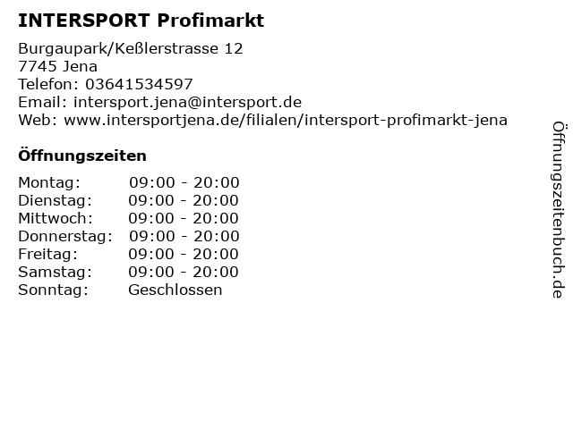INTERSPORT Profimarkt in Jena: Adresse und Öffnungszeiten