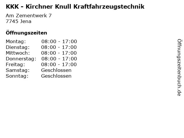 KKK - Kirchner Knull Kraftfahrzeugstechnik in Jena: Adresse und Öffnungszeiten