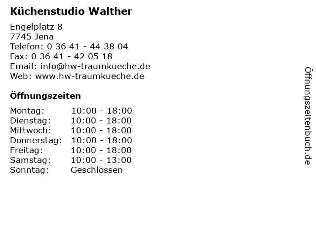 Küchenstudio Walther in Jena: Adresse und Öffnungszeiten