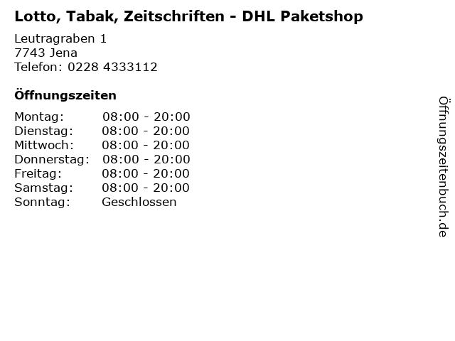 Lotto, Tabak, Zeitschriften - DHL Paketshop in Jena: Adresse und Öffnungszeiten