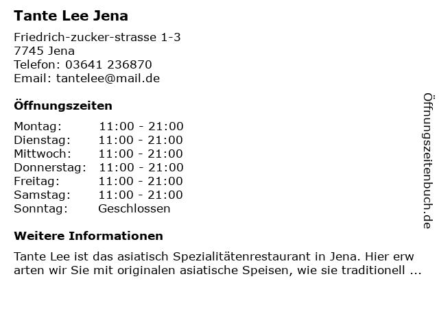 New Asia Bistro in Jena: Adresse und Öffnungszeiten