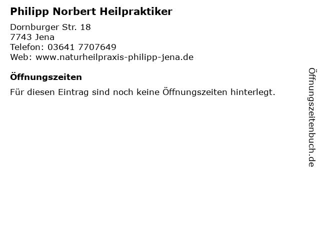 Philipp Norbert Heilpraktiker in Jena: Adresse und Öffnungszeiten