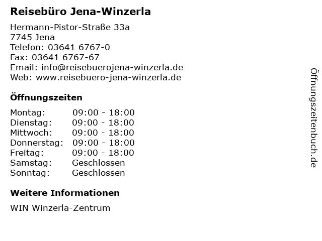 Reisebüro Jena-Winzerla in Jena: Adresse und Öffnungszeiten