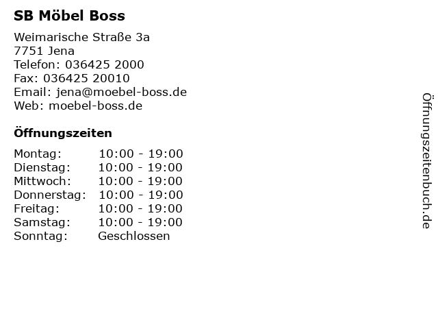 ᐅ Offnungszeiten Sb Mobel Boss Handels Gmbh Co Kg Jena